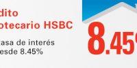 Crédito Hipotecario HSBC tasa 8.45%